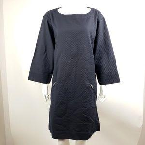 Gap Dark Blue Quilted Dress Medium Tall